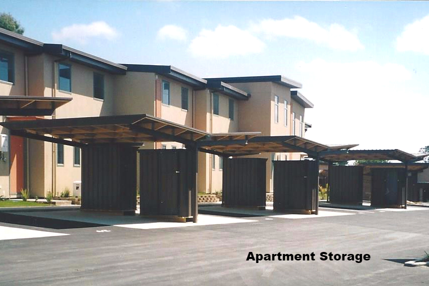 Apartment storage sheds